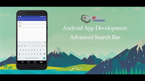 search bar for android android studio tutorial advanced search bar