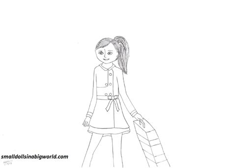 coloring pages american girl grace grace coloring page 3