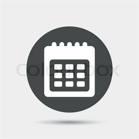 date symbol calendar sign icon date or event reminder symbol gray