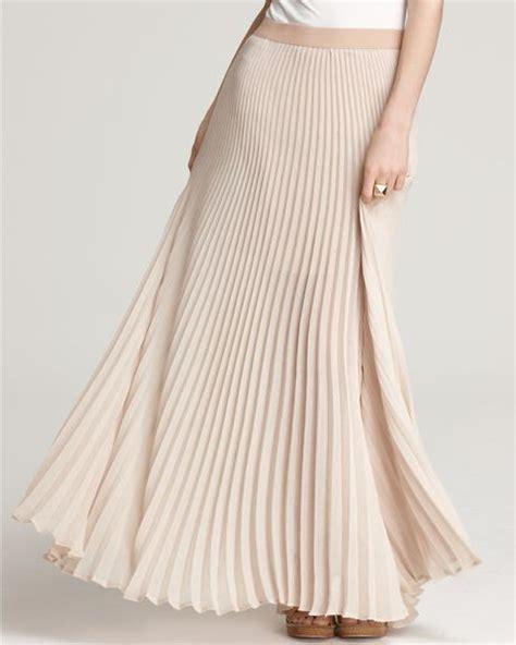 bcbgmaxazria skirt estel sunburst pleated maxi in beige