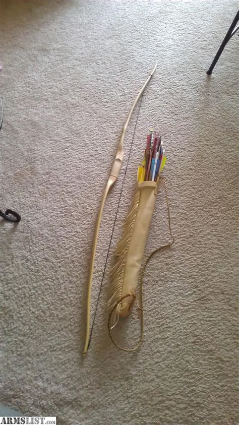 Handmade Bow And Arrow For Sale - armslist for sale handmade longbow arrows quiver