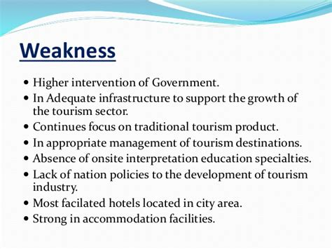 Business Letters In The Hotel And Tourism Industry swot analysis for tourism industry by kandasamy anusanth