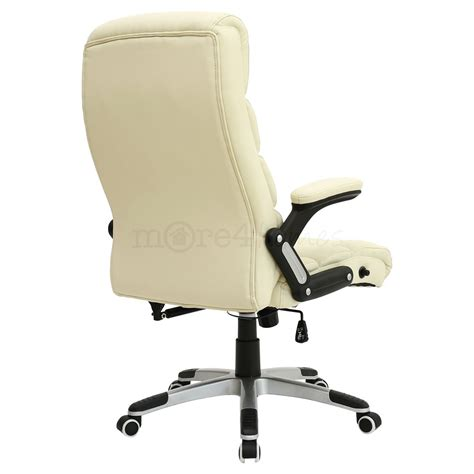 reclining executive office chair havana cream luxury reclining executive leather office