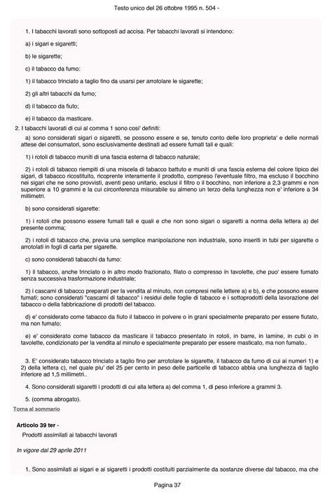testo unico delle accise testo unico accise 37 rimborso accise gasolio