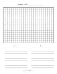 make your own crossword template printable crossword puzzle paper