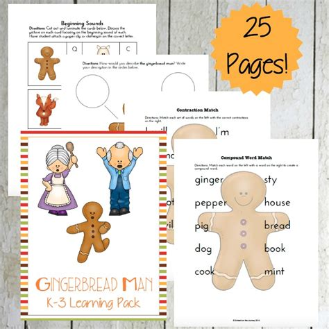 printable version of the gingerbread man gingerbread man printable prek 3