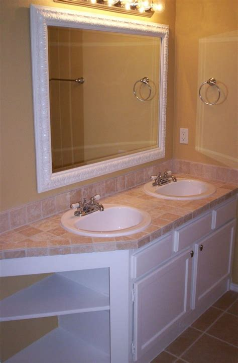 bathroom tile countertop ideas travertine countertops design ideas pros cons and cost sefa