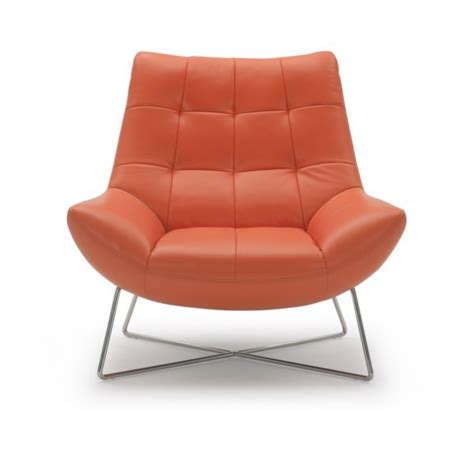 orange leather lounge chair a728 modern orange leather lounge chair ge accent