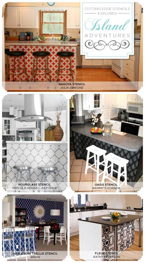 kitchen stencils designs cutting edge stencils shares gorgeous stenciled kitchen