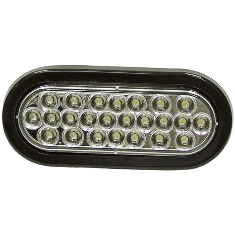 24 led lights 6 5 quot oval clear 24 led strobe light dc mobile equipment