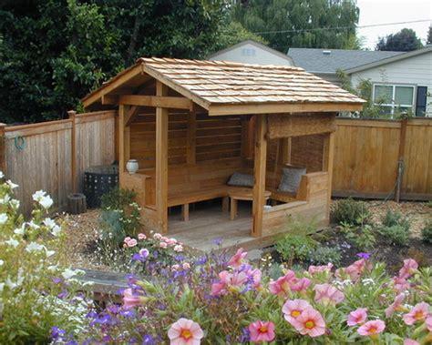 custom garden patio shelter design tiny tea house