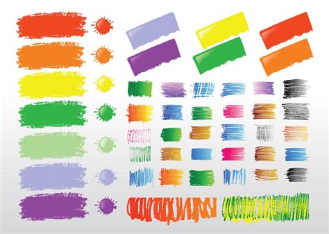 paint strokes vector graphics freevector