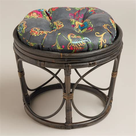 antigua micro suede papasan stool cushion world market