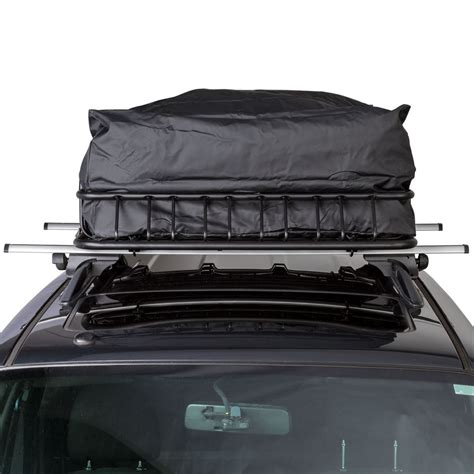 deluxe auto cargo kit car roof rack basket and bag