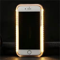 selfie white led light up phone for iphone 6 6s