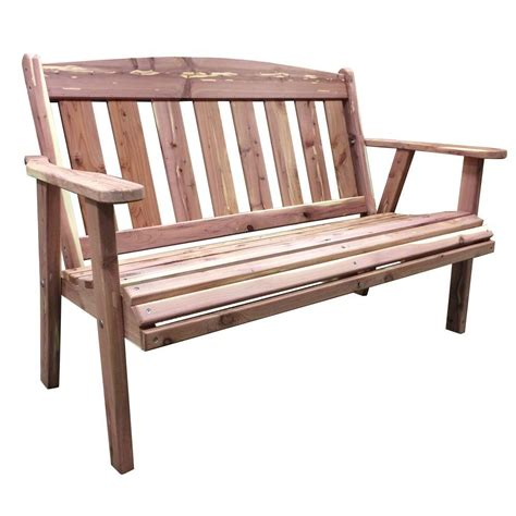 outdoor patio bench amerihome amish made outdoor cedar patio bench 801743 the home depot