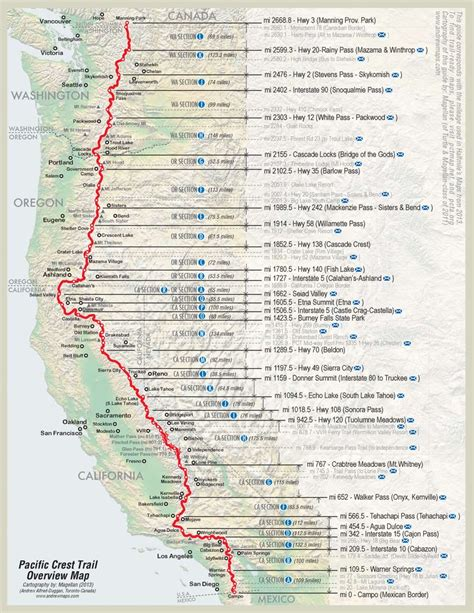 map of oregon pacific crest trail 17 best ideas about pacific crest trail on