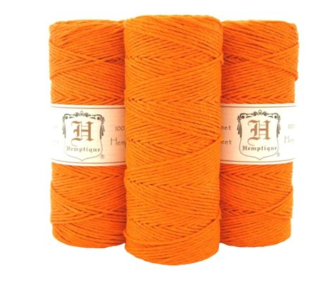 with hemp cord orange hemp cord