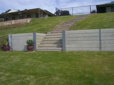 Concrete Sleeper Retaining Walls Price by Lonsdale Concrete Sleepers Concrete Retaining Walls Adelaide