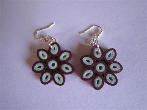 Handmade Paper Earrings Jewelry - handmade jewelry paper quilling flower earrings mazanda
