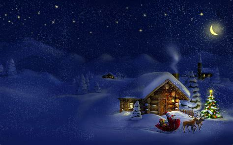 merry christmas  happy  year village santa sleigh