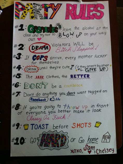 college house ideas 25 best ideas about party rules on pinterest funny drinking games college party