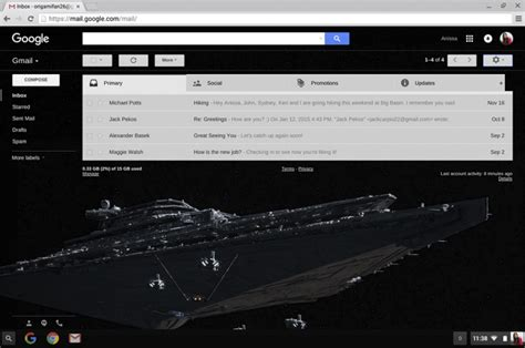 gmail dark themes google celebrates star wars the force awakens by
