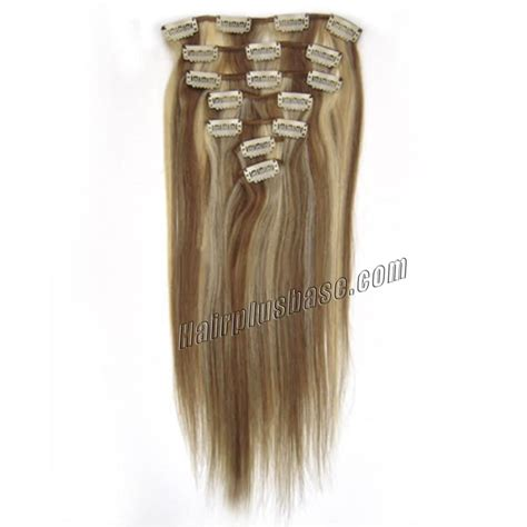 8 inch hair extensions 22 inch 12 613 clip in human hair extensions 8pcs