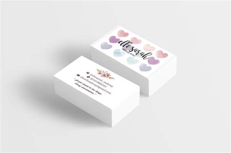 design flyer murah premade watercolor floral and love namecard business