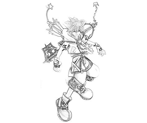 kingdom hearts 2 coloring pages free coloring pages