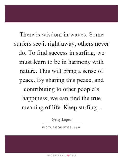Do Some Never Find There Is Wisdom In Waves Some Surfers See It Right Away Others Picture Quotes