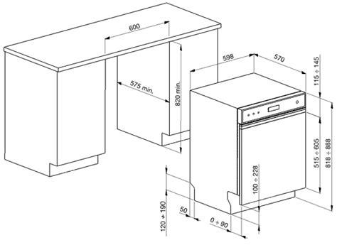 Einbau Geschirrspüler Miele 552 by Smeg Pla6448n Siyah Panel Yarı Ankastre Bulaşık Makinesi