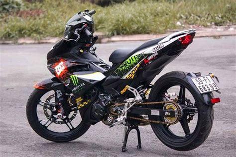 modifikasi jupiter mx ala motogp yamaha jupiter mx king 150 karya tangan sendiri