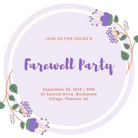 designs of invitation cards for farewell party customize 2 877 farewell party invitation templates
