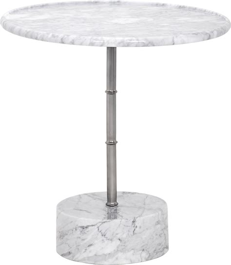 White Marble Side Table by White Marble Side Table 101575 Sunpan Modern Home