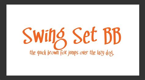 Swing Set Bb Font One Day I Will Scrapbook Again Pinterest