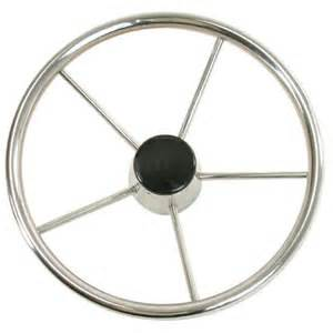 Steering Wheels For Power Boats Whitecap Destroyer Steering Wheel With Black Cap