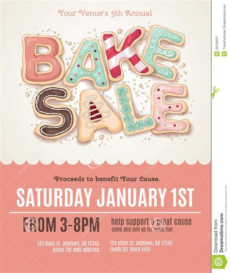 Fun Cookie Bake Sale Flyer Template Download From Over 56 Million High Quality Stock Photos Cookie Flyer Template Free