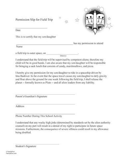 up letter prank april fools permission slip for a field trip to