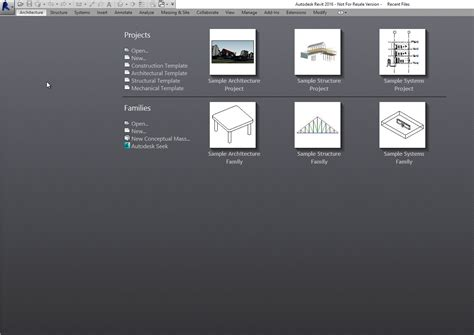Revit 2016 Add A Template To The Start Screen Cadline Community Start Page Template
