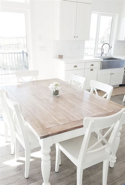 white kitchen table with wood top 25 best ideas about white dining table on