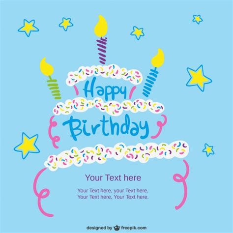 birthday card template vector free birthday card template with cake vector free