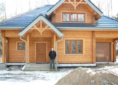 wooden house  glued laminated timber romuald poland