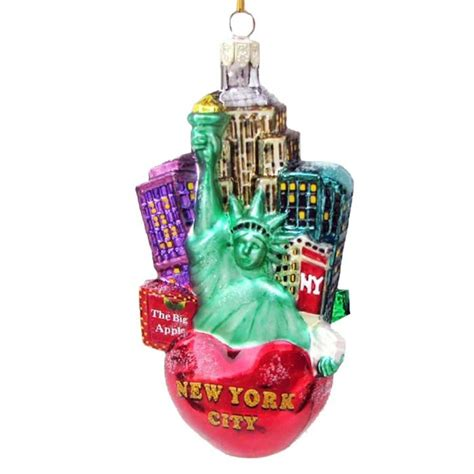 new york city glass cityscape ornament christmas and city