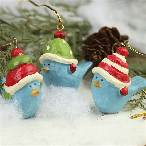 paper clay holiday bluebird ornaments birds and