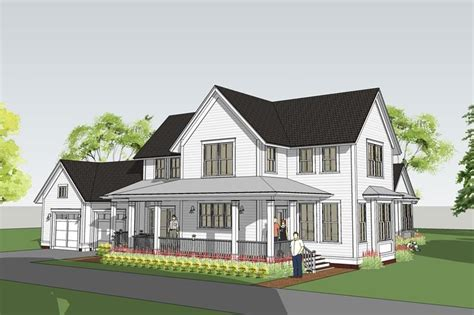 Farmhouse House Plans by Modern Farmhouse With Main Floor Master Withrow