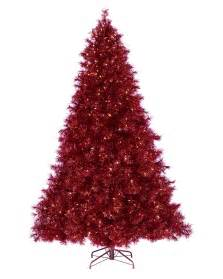 ruby red tinsel christmas tree treetopia