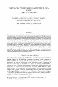 Case Study Research Paper Example Chemistry Teachers Research Their Own Work Two Case