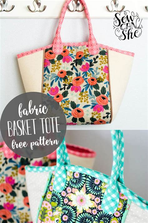 pattern design bags free sewing pattern diy basket tote