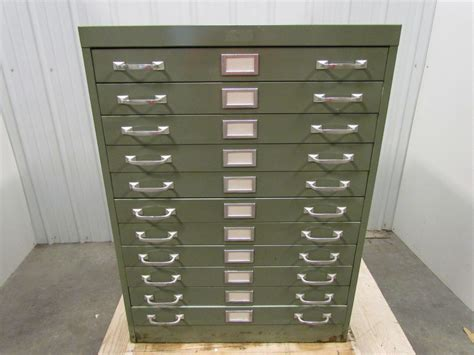 Blueprint Cabinets by Cole 11 Drawer Steel Flat File Blueprint Cabinet Green 40